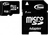 Подробнее о Team microSDHC 4GB Class 10+adapter TUSDH4GCL1003
