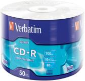 Подробнее о Verbatim CD-R 52x (B-50) 700Mb Wrap (43787)