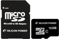 Подробнее о Silicon Power microSDHC 16Gb class 10 + SD adapter SP016GBSTH010V10-SP