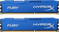 Подробнее о Kingston HyperX Fury Blue DDR3 8Gb (2x4Gb) 1600MHz CL10 Kit HX316C10FK2/8