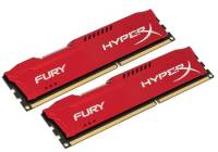 Подробнее о Kingston HyperX Fury Red DDR3 8Gb (2x4Gb) 1866MHz CL10 Kit HX318C10FRK2/8