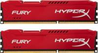 Подробнее о Kingston HyperX Fury Red DDR3 16Gb (2x8Gb) 1866MHz CL10 Kit HX318C10FRK2/16