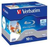 Подробнее о Verbatim BD-R 6x 50Gb x Wide Printable No ID Brand Jewel case 43736