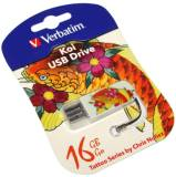 Подробнее о Verbatim StoreNGo 16Gb Mini Tattoo Koi USB 2.0 49886
