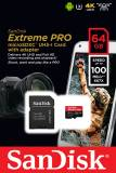 Подробнее о SanDisk Extreme Pro 64GB Micro SD Card w/ Adapter SDSQXCG-064G-GN6MA