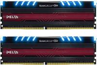 Подробнее о Team Delta Blue LED DDR4 16Gb (2x8Gb) 3000MHz CL16 Kit TDTBD416G3000HC16CDC01