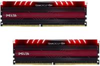 Подробнее о Team Delta Red LED DDR4 16Gb (2x8Gb) 3000MHz CL16 Kit TDTRD416G3000HC16CDC01