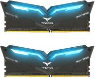 Подробнее о Team T-Force Night Hawk Blue LED DDR4 16Gb (2x8Gb) 3000MHz CL16 Kit THBD416G3000HC16CDC01