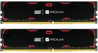 Подробнее о Goodram Iridium Black DDR4 16Gb (2x8Gb) 2400MHz CL15 Kit IR-2400D464L15S/16GDC
