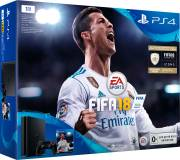 Подробнее о Sony PlayStation 4, 1000 Gb, Black + FIFA 18