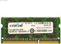 Подробнее о Crucial So-Dimm DDR3 4Gb 1600MHz CL11 CT51264BF160B
