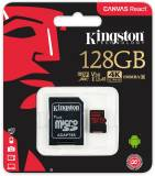 Подробнее о Kingston microSDXC 128GB C10 UHS-I U3 R100/W80MB/s + SD адаптер SDCR/128GB