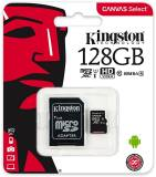 Подробнее о Kingston Canvas Select microSDXC 128GB C10 UHS-I R80MB/s + SD адаптер SDCS/128GB