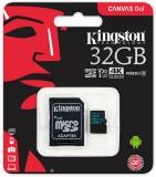 Подробнее о Kingston Canvas Go microSDHC 32GB C10 UHS-I U3 R90/W45MB/s + adapter SDCG2/32GB