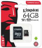 Подробнее о Kingston Canvas Select microSDXC 64GB C10 UHS-I R80MB/s + SD адаптер SDCS/64GB