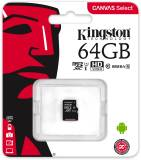 Подробнее о Kingston Canvas Select microSDXC 64GB C10 UHS-I R80MB/s SDCS/64GBSP