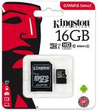 Подробнее о Kingston Canvas Select microSDHC 16GB C10 UHS-I R80MB/s + SD адаптер SDCS/16GB