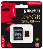 Подробнее о Kingston Canvas React microSDXC 256Gb class 10 UHS-I U3 + adapter SDCR/256GB