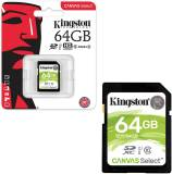 Подробнее о Kingston Canvas Select SDXC 64GB C10 U1 SDS/64GB