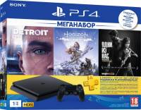 Подробнее о Sony PlayStation 4 1TB Slim + игры Detroit, Horizon, The Last Of Us + PS Plus 9926009