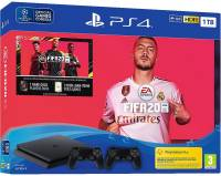Подробнее о Sony PS4, 1 TB, Black, Slim, +Fifa 20+Dualshok4 V2