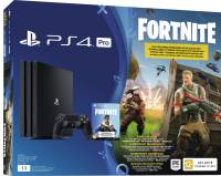 Подробнее о Sony PlayStation 4 Pro, 1000 Gb, Black + Fortnite