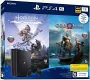 Подробнее о Sony PlayStation 4 Pro 1TB (God of War & Horizon Zero Dawn CE) 9994602
