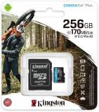 Подробнее о Kingston Canvas Go! Plus microSDXC 256GB + adapter SDCG3/256GB