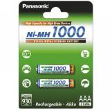 Подробнее о Panasonic High Capacity AAA/HR03 NI-MH 1000 mAh BL 2 шт BK-4HGAE/2BE