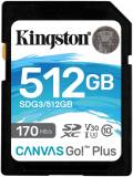Подробнее о Kingston Canvas Go Plus SDXC 512GB SDG3/512GB