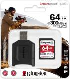 Подробнее о Kingston Canvas React Plus Kit SDXC 64GB + Reader MLPR2/64GB