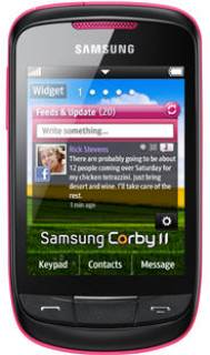 Смартфон Samsung GT-S3850 CIS Corby II (Candy Pink) GT-S3850CISSEK