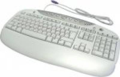 Клавиатура Logitech Office Pro Russian PS/2 white 967452-0112