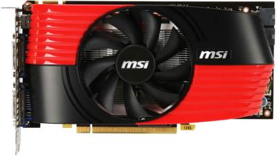 Видеокарта MSI GeForce GTX460 1GB N460GTX-M2D1GD5/OC