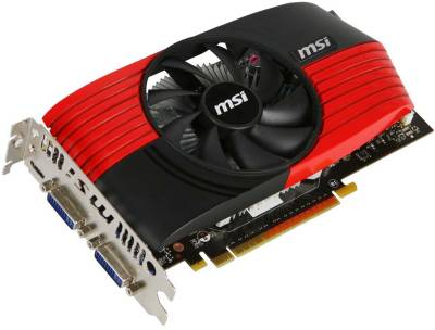 Видеокарта MSI GeForce GTS450 1GB N450GTS-M2D1GD5/OC