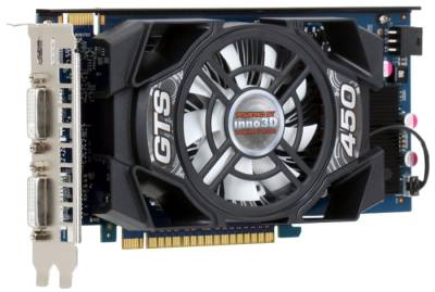 Видеокарта Inno3D GeForce GTS450 1GB N450-1DDN-D3CX