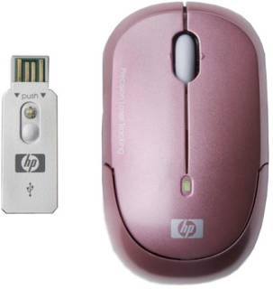Мышка HP Wireless Laser Pink Mini Mouse KJ453AA#ABB