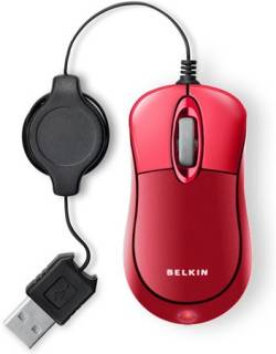Мышка Belkin Mini Travel Retractable Red F5L016NGUSB-RED