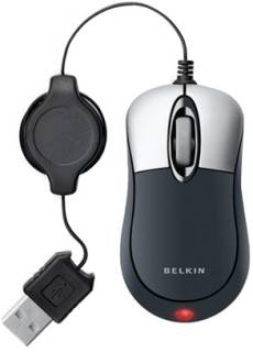 Мышка Belkin Mini Travel Retractable (Silver-Black) F5L016NGUSB