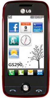 Смартфон Lg GS290 Cookie Fresh (Wine Red) GS290WR