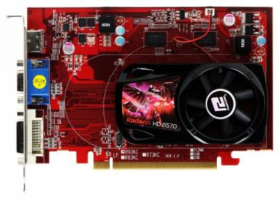 Видеокарта PowerColor Radeon HD6570 1GB AX6570 1GBK3-H