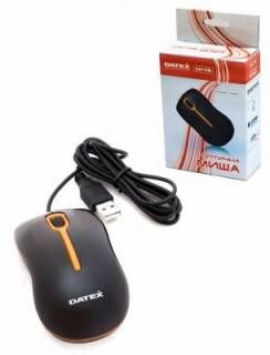Мышка DATEX DM-06 USB (Black-Orange) DM-06 BO