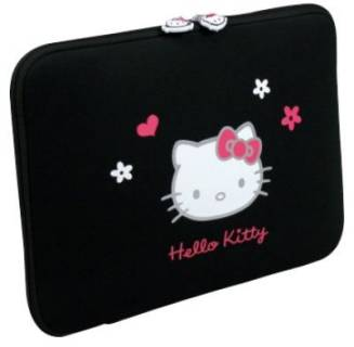PORT case Designs HELLO KITTY Flowers (Black) HKNE13BL
