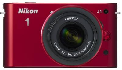 Фотоаппарат Nikon 1 J1 RED Kit + 10-30mm VR VVA155K001