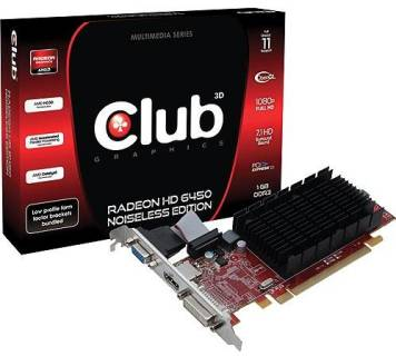 Видеокарта Club-3D Radeon HD 6450 1024MB CGAX-64524I