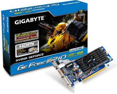 Видеокарта Gigabyte GeForce GF 210 1G GV-N210TC-1GI