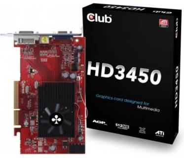 Видеокарта Club-3D Radeon HD3450 512 Mb CGA-3452