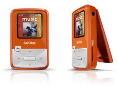 MP3 плеер SanDisk Sansa Clip Zip 4GB Orange SDMX22-004G-E46O
