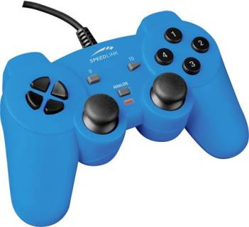 Игровой контроллер Speed Link PC Strike Gamepad blue SL-6535-SBE-01