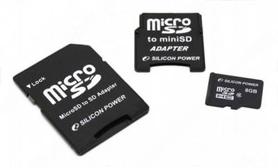Карта памяти SiliconPower microSDHC 8 Gb class 6 SP008GBSTH006V30
